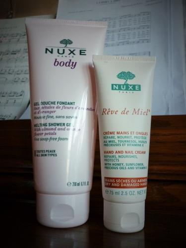 nuxe, gel douche, crème pour les mains, beauté, shopping, actu, actualité